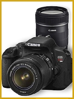 Canon T4i with 18-55 IS Lens